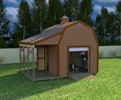 Hip Roof Barn Plans Here U0027s A Really Neat 12x16 Barn Shed With Side Porch With Easy To