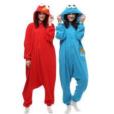 sesame onesie for adults elmo fleece pijama animal home