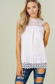 white sleeveless blouse lace sleeveless blouse with amndarin collar