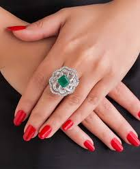 diamond cocktail rings emerald diamond cocktail ring carat crush