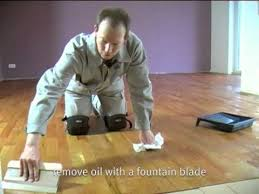 auro oiling of wooden floors