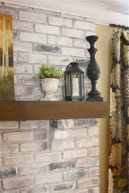 the yellow cape cod white washed brick fireplace tutorial what do