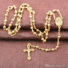 all gold rosary necklace images Fashion women 39 s 18 k gold rosary necklaces zinc alloy virgin mary jpg