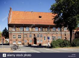 luneburg historical house facades in the old town stock photo