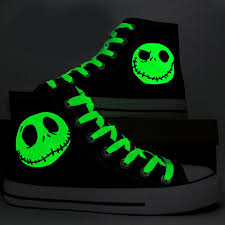 the nightmare before canvas shoes luminous skull