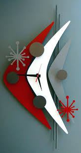 mid century modern clock vintage spartus atomic starburst