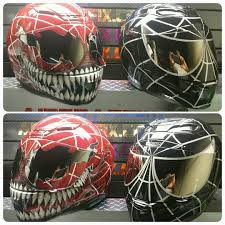 custom motocross helmet spiderman motorcycle helmets