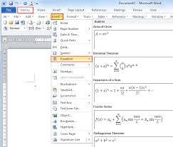 format download in ms word 2013 where is the equation in microsoft word 2007 2010 2013 and 2016