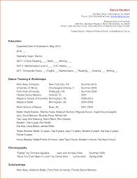Dancer Resume Sample Resume Dancer Resume Sample