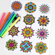 mandala coloring pages dabbles u0026 babbles