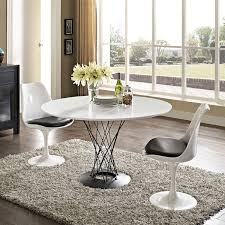 White Wood Dining Room Table by Amazon Com Modway Cyclone Wood Top Dining Table In White Tables