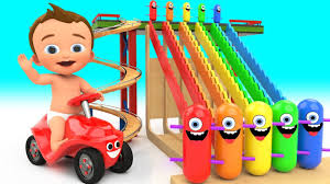 funny colors learn colors for children with baby game play wooden toy funny