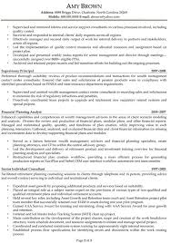 Senior Financial Analyst Resume Sample by Finance Resume Examples Resume Professional Writers