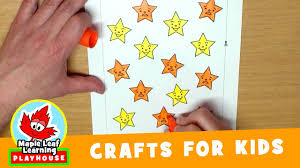 telescope craft for kids maple leaf learning playhouse youtube