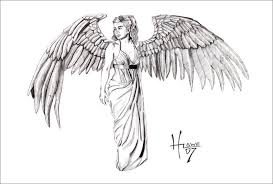 gallery angel drawings black and white drawing art gallery