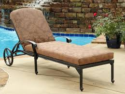 Outdoor Chaise Lounge Cushions Patio 2 Chocolate Floral Blossom Chaise Lounge Cushions For