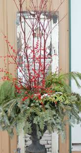 Christmas Decorations For Outdoor Urns by Let The Holiday Decorating Begin Winter Christmas Porch And