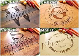 cutting board wedding gift bay laurel garland personalized cutting board engraved cutting