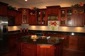 kitchen island cupboards kitchen with cherry cabinets brown oak wooden kitchen cabinet