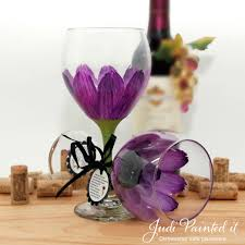 beautiful how to paint flowers on wine glasses 53 in with how to