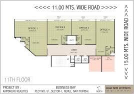 Floor Plan Business Floor Plans Kamdhenu Realty Business Bay At Shiravane Navi