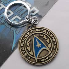 classic key rings images Round badge key star fleet medal men key rings movie new bronze jpg