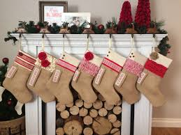personalized christmas stocking red and white collection