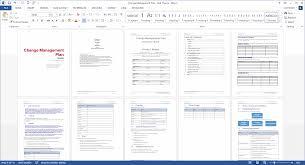 Change Management Plan Template Excel Change Management Plan Ms Word Excel Templates