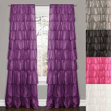 Ruffled Curtains Pink Bohemian Ruffled Curtains Bohemian Chic Ruffled Curtains