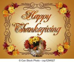 stock illustrations of happy thanksgiving card image and