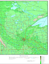 Map Of Minnesota With Cities Minnesota Printable Map