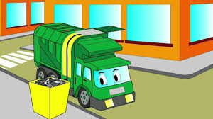 cartoon about a garbage truck coloring book let u0027s color a