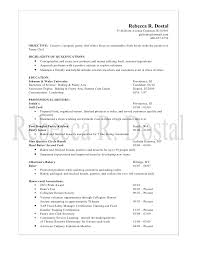 Culinary Resume Examples by Pastry Chef Resume Berathen Com