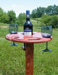 outdoor wine glass holder table picnic wine table wine glass holder outdoor drink holder