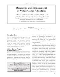 diagnosis and management of video game addiction pdf download