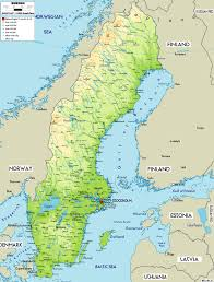 map of sweden large physical map of sweden