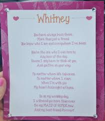 matron of honor poem of honor poems