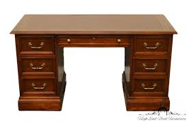 Maddox Tables Secretary Desk by High End Used Furniture Sligh Holland Mi Tooled Leather Top 56