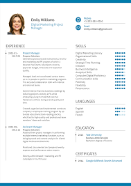 Project Manager Resume Examples by Digital Marketing Project Manager Resume Example