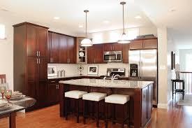 Kitchen Floors Laminate Kitchen Appealing Triple Hanging Lamp Above Big Counter Near Gas
