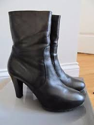 womens high heel boots size 9 acuatalia forever s black leather weatherproof high heel