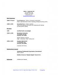 sample resume part time job sample resume high student