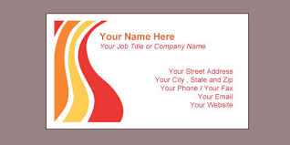 business cards templates free for word microsoft office word