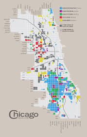 chicago map side map of gangs in chicago chicago