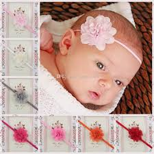 newborn headband baby headbands mini chiffon flower headbands thin elastic bands