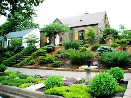 Landscaping Ideas Front Yard by Landscape Front Yard Landscaping On A Slope The Garden