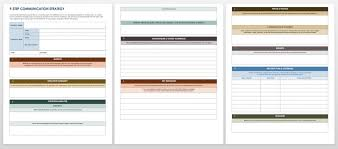 free communication strategy templates and samples smartsheet