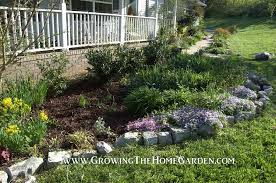 natural rocks for stone garden borders growing the home garden