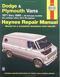1999 dodge ram service manual amazon com haynes repair manuals dodge plymouth vans 71 03