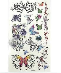 flower designs temporary tattoos